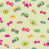 Seamless butterfly pattern. Seamless pattern with colorful butterflies. Vector background Royalty Free Stock Photos