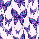 Seamless butterfly pattern. Stock Images