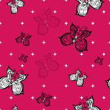 Seamless butterfly pattern Stock Images