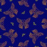 Seamless butterfly pattern. Vector illustration Royalty Free Stock Photo
