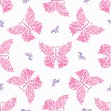 Seamless butterfly pattern. Vector illustration Stock Photos