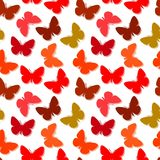 Seamless butterfly pattern. Seamless vector wallpaper with butterflies Stock Image