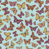 Seamless butterfly wallpaper Royalty Free Stock Images