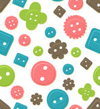 Seamless button pattern Royalty Free Stock Images