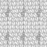 Seamless cables front pattern. Stock Image