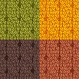 Seamless cables front patterns set. Stock Photos