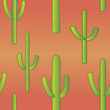 Seamless Cacti. A seamless pattern of saguaro cacti found in the American southwest Stock Photos