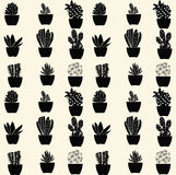 Seamless cactus pattern - Illustration Stock Images