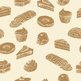 Seamless cake background Royalty Free Stock Photo