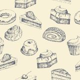 Seamless cake background Stock Photography