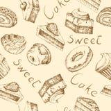Seamless cake background Stock Photography
