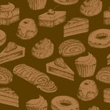 Seamless cake background Royalty Free Stock Images