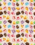 Seamless cake pattern. Vector illustration Royalty Free Stock Photo