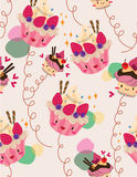 Seamless cake pattern Stock Photography