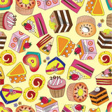 Seamless cake pattern Royalty Free Stock Photo