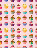 Seamless cake pattern. Vector,illustration Royalty Free Stock Images