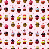 Seamless cake pattern. Vector,illustration Stock Images