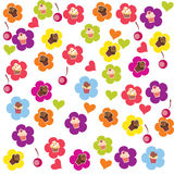 Seamless cake pattern. Royalty Free Stock Images