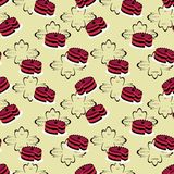 Seamless cake pattern Royalty Free Stock Photography