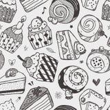 Seamless Cake Pattern Stock Photo