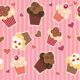 Seamless cake pattern. Vector. Illustration Stock Images