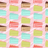 Seamless cake slices background Royalty Free Stock Photos