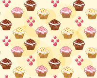 Seamless with cake. Royalty Free Stock Images