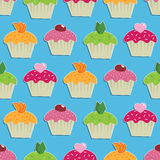 Seamless cake wallpaper Royalty Free Stock Photo