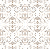 Seamless calligraphic pattern Stock Photography