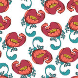 Seamless camellia pattern Stock Image