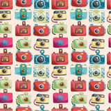 Seamless camera pattern Stock Photo