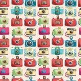 Seamless camera pattern royalty free illustration