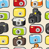 Seamless camera pattern Royalty Free Stock Photos