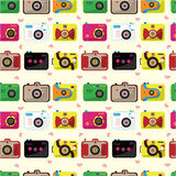 Seamless camera pattern Stock Images