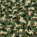 Seamless Camo Pattern. A seamless pattern of woodland hunting camouflage stock illustration