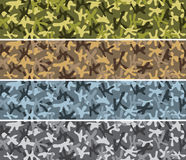 Seamless camouflage backrounds. Seamless camouflage backround in 4 color variations royalty free illustration