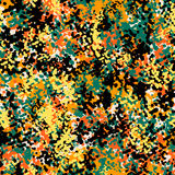 Seamless camouflage doodle pattern grunge texture. Royalty Free Stock Image