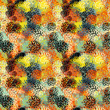 Seamless camouflage doodle pattern grunge texture. Stock Photography