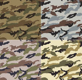 Seamless camouflage fabric pattern Stock Images