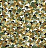 Seamless camouflage in Green and Brown khaki pattern with breakage. Polygonal mosaic series for your design. Vector. Illustration stock illustration