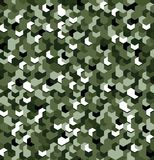 Seamless camouflage in Green pattern with breakage. Polygonal mosaic series for your design. Vector. Illustration stock illustration