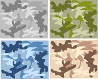 Seamless camouflage pattern Royalty Free Stock Image