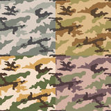 Seamless camouflage pattern. Seamless abstract camouflage pattern set Royalty Free Illustration