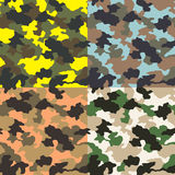 Seamless camouflage pattern Royalty Free Stock Images