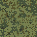 Seamless Camouflage Pattern. Seamless Digital Army Camouflage Pattern Royalty Free Illustration