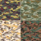 Seamless camouflage pattern. Fabric set Stock Photo