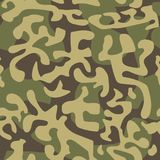 Seamless camouflage pattern in green tones. Vector illustration royalty free illustration