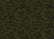 Free Seamless Camouflage Pattern. Khaki Texture, Vector Illustration. Camo Print Background Military Style Backdrop Stock Images - 125091294