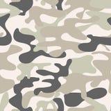 Seamless camouflage pattern. Khaki texture, vector illustration. stock illustration