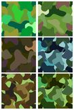 Seamless camouflage set (vector) Stock Photography